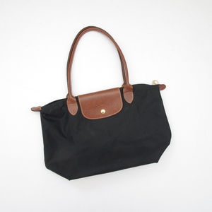 Longchamp Le Pliage Shopping Tote Black Bag Nylon